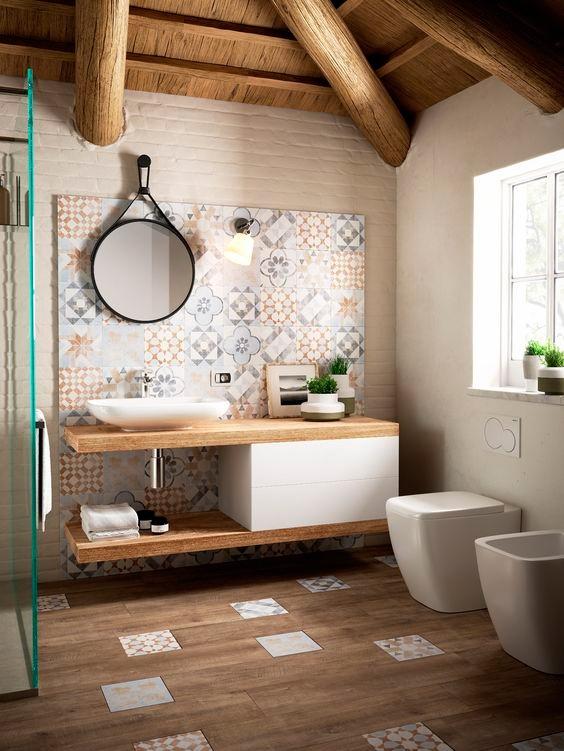 baño vintage y estilo original