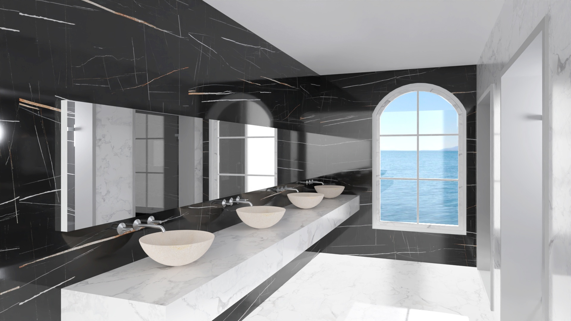 sahara noir azulejo marmol negro geotiles pamesa