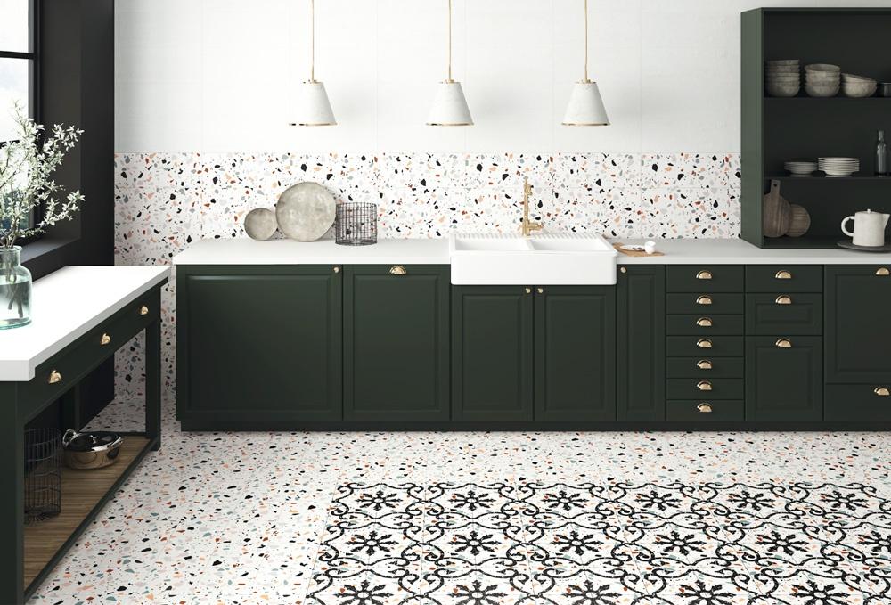 vintage trendy terrazo ape ceramica azulejos