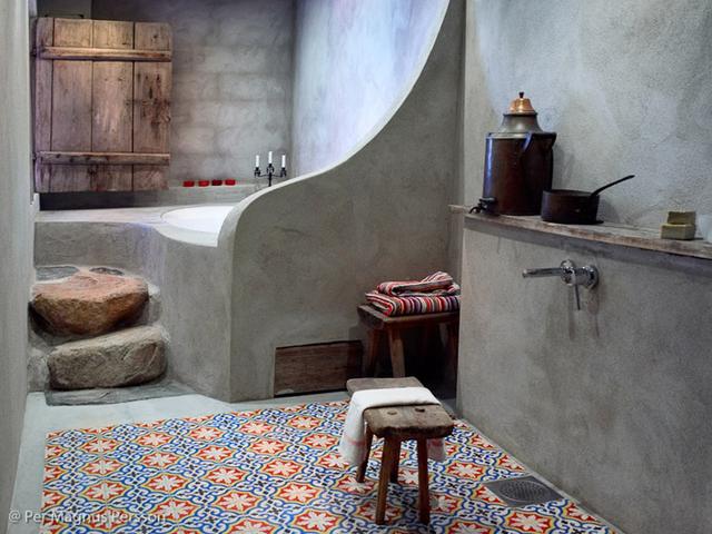 Carrelage céramique, Salle de bain