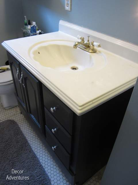 how to remove a countertop from a vanity » decor adventures