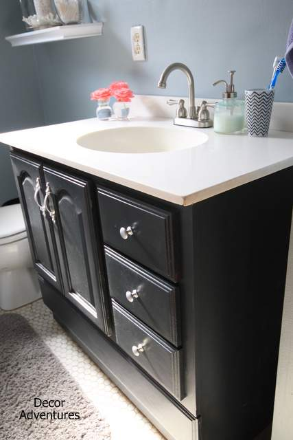 Budget Vanity Makeover by Decor Adventures