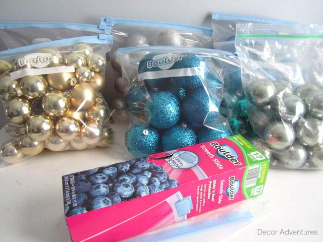 Organize Christmas Ornaments