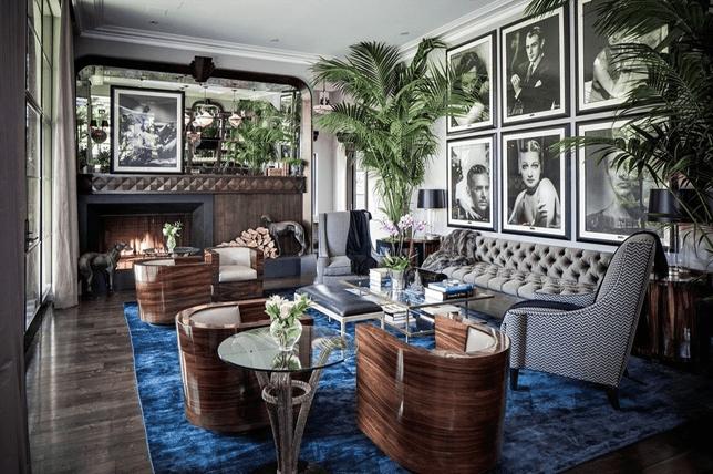 Art Deco iç tasarım mobilya