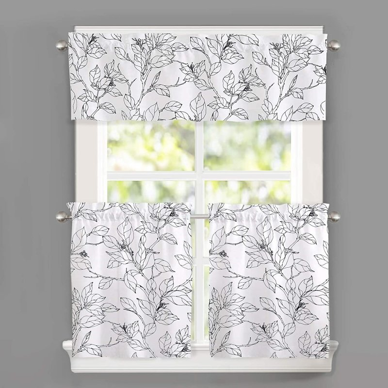 botanic patterned sound-proofing curtain