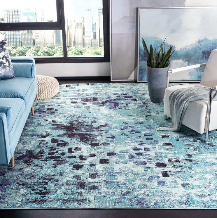 aqua hues rug