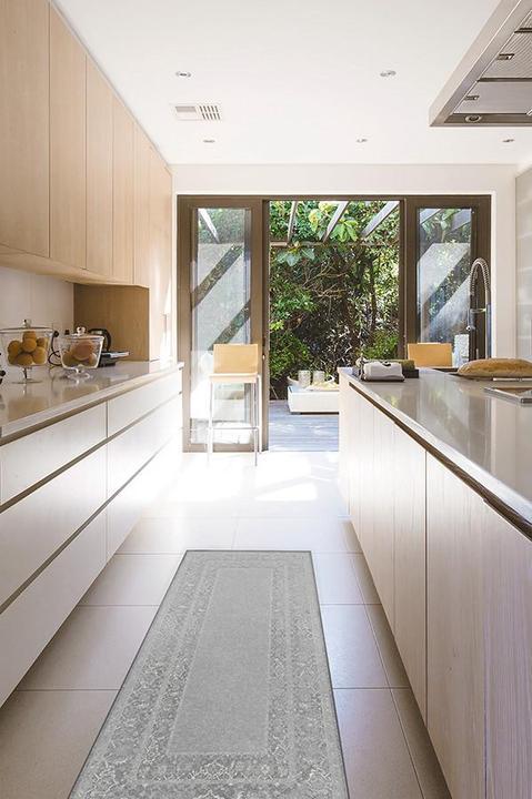 gray kitchen rug