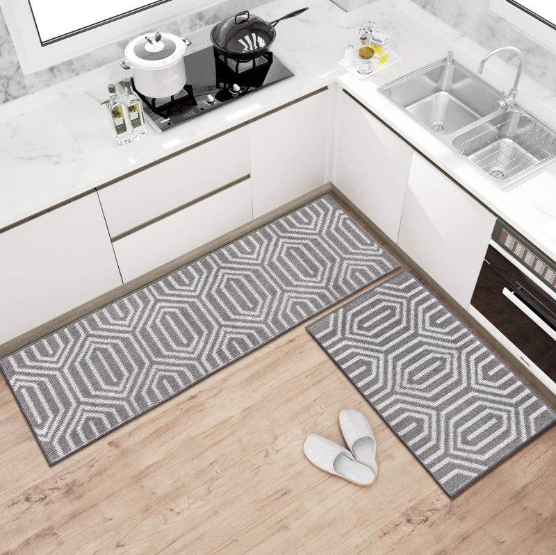 grey kitchen rug