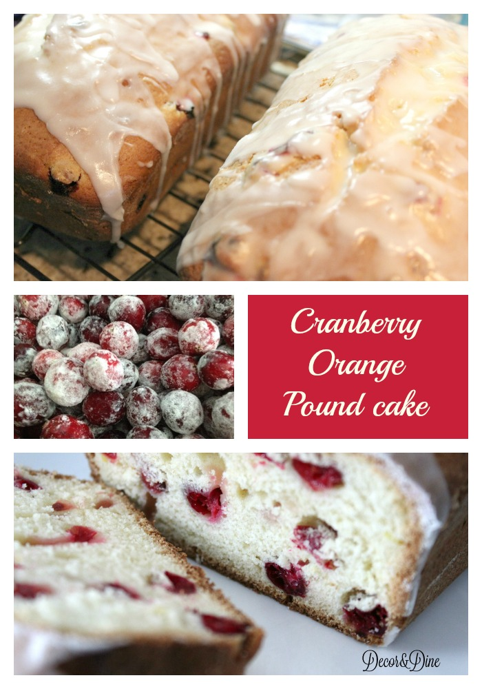 Cranberry Orange Pound Cake Recipe