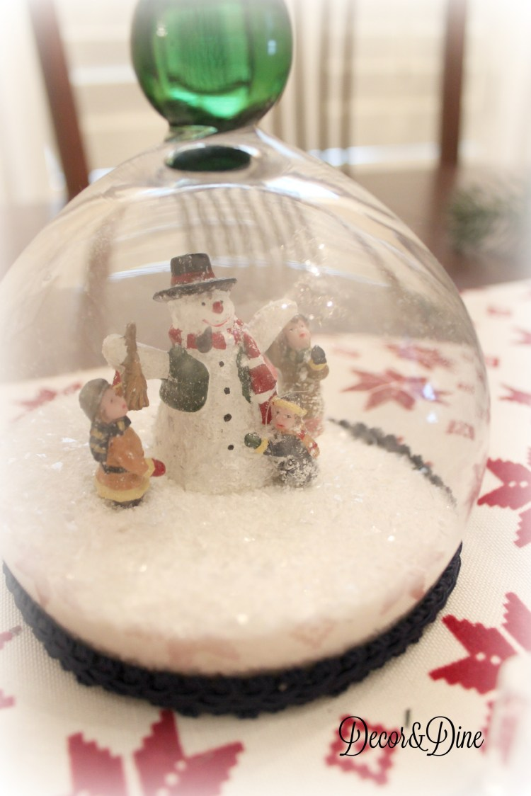 waterless DIY snowglobe
