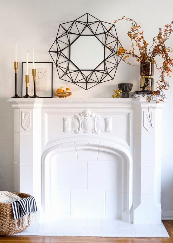 Modern Fall Mantel