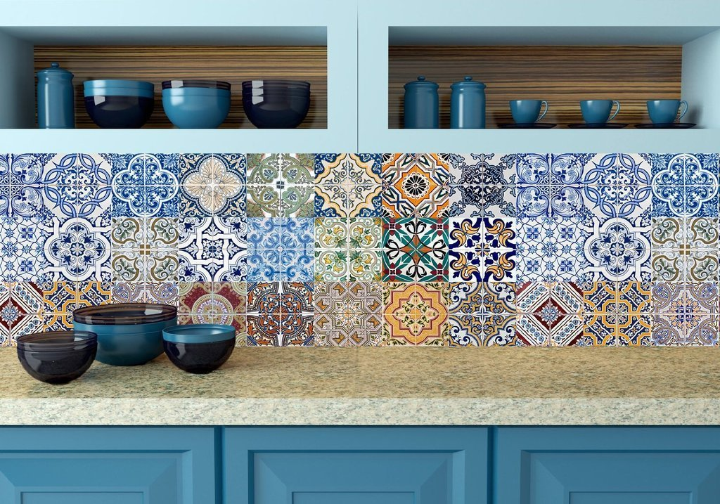 colourful tile stickers