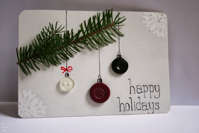 Christmas card with buttons