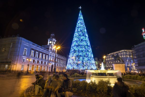 Christmas tree.Madrid Spain