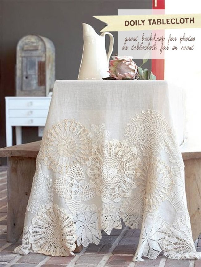 doily tablecloth