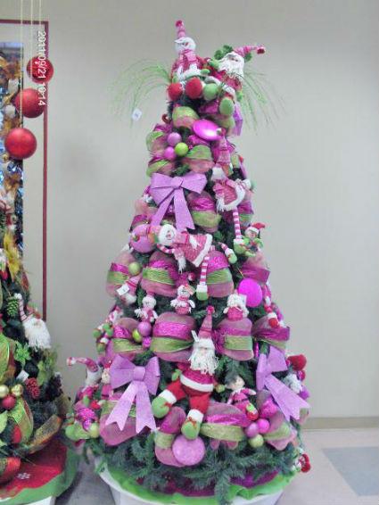 Navidad en azules fucsias y morados decorando el hogar for Arbol navidad turquesa