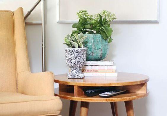 mesa de centro e lateral para a sala