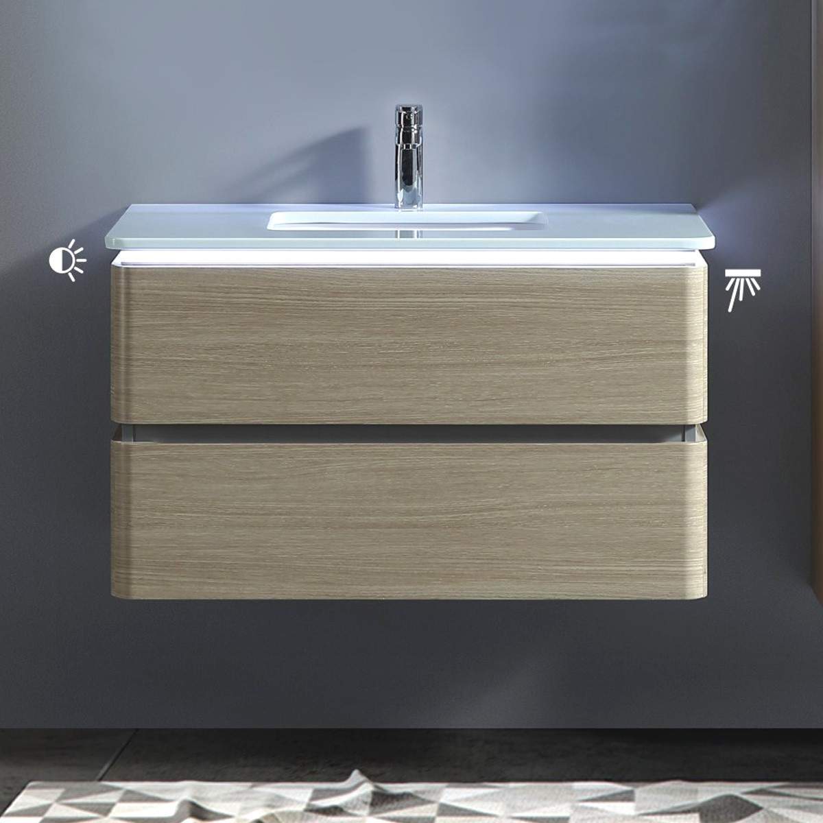 36 In Wall Mount Vanity With Basin Bnw9002lt V