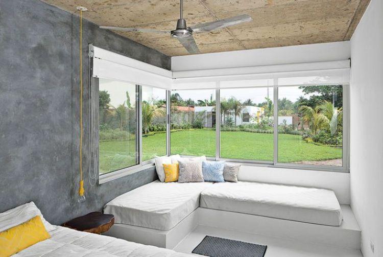 Zona de relax con cemento pulido