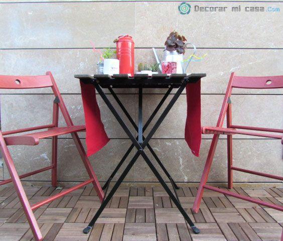 Decorando una mesa para el jardín
