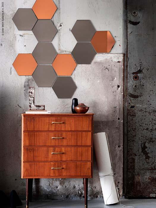 Decorar con espejo Honefoss de Ikea