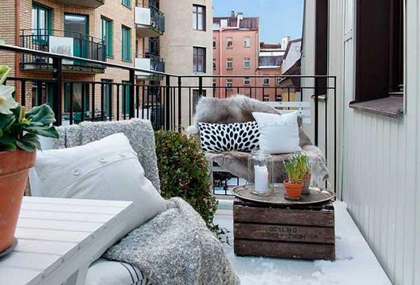 Decora tu terraza en invierno