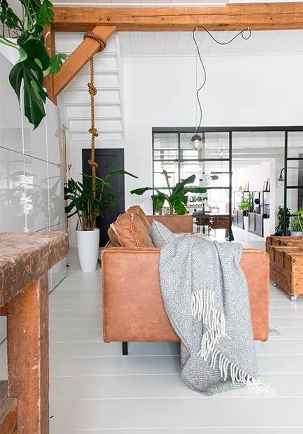 Casa nórdica con estilo industrial