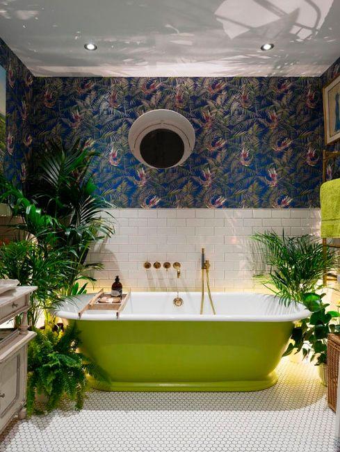 Baños veraniegos: decoración de estilo tropical