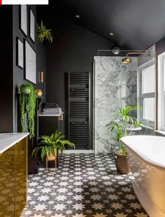 Antes y después de un baño lujoso