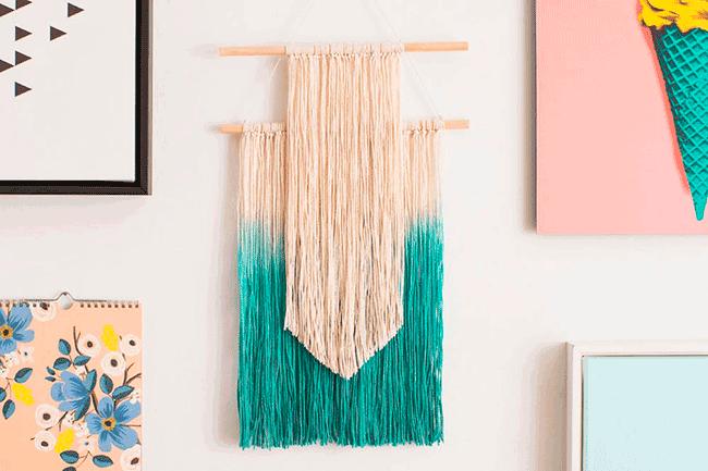 4 DIY de arte textil para decorar tus paredes