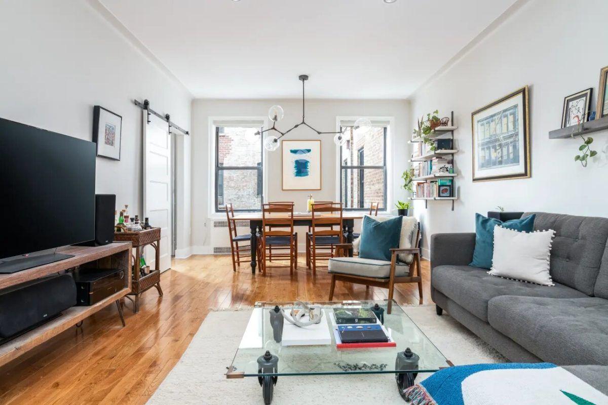 Antes y después: apartamento reformado en Brooklyn