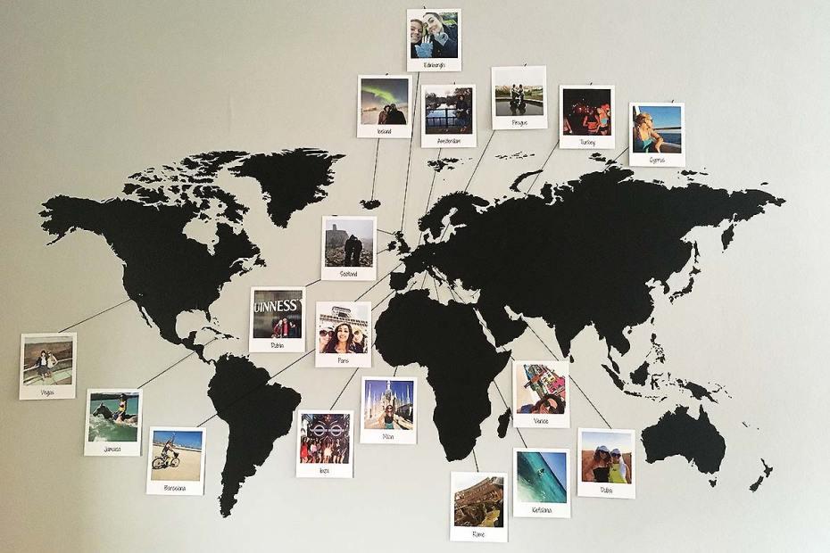 Decoración para amantes de los viajes