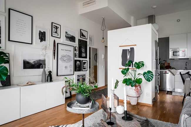 Decorar con plantas en un apartamento nórdico