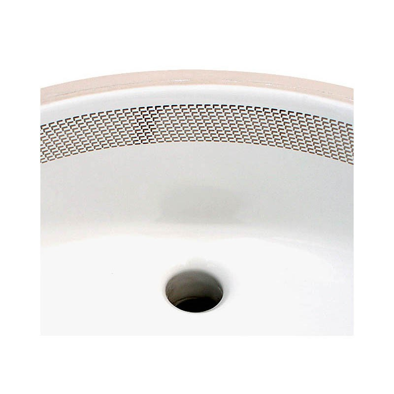 contemporary design hand painted border basin detail
