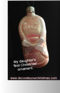 baby first christmas ornament for girl
