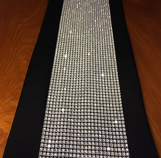 crystal rhinestone table runner for