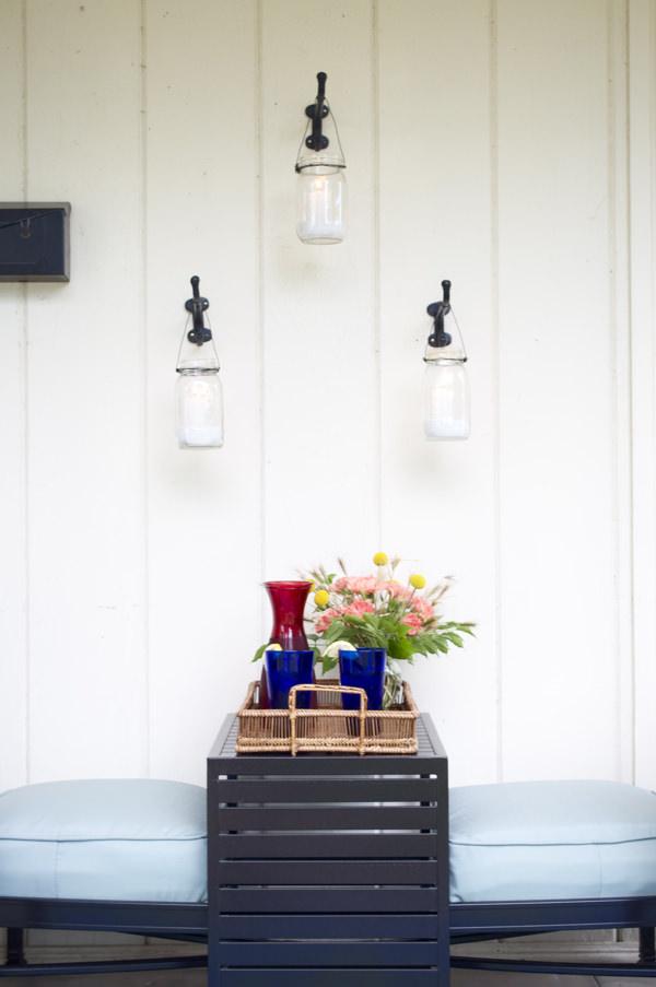 Mason jar votive lanterns