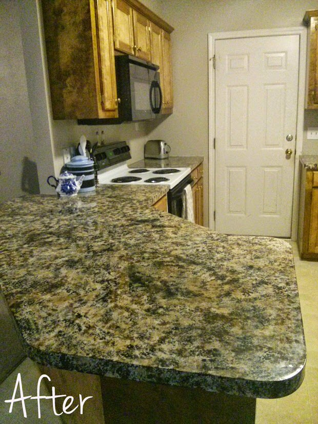 DIY Painted Countertops Decorating Your Small Space