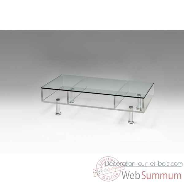 table basse plexiglas sur roulettes marais international mtb220r
