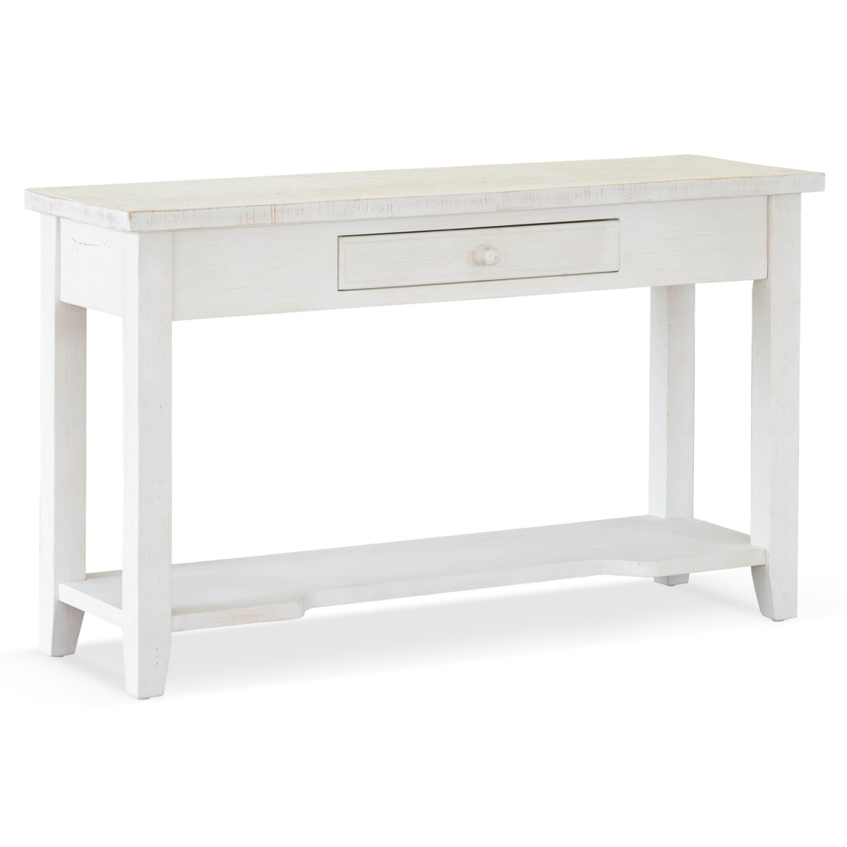 console 1 tiroir bois blanc 120x41 5x78cm