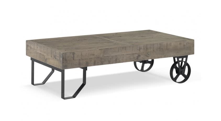 meuble bas bois roulettes 130x75x40cm
