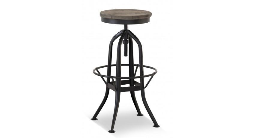 chaise haute tabouret bois fer forge 40 5x40 5x68cm