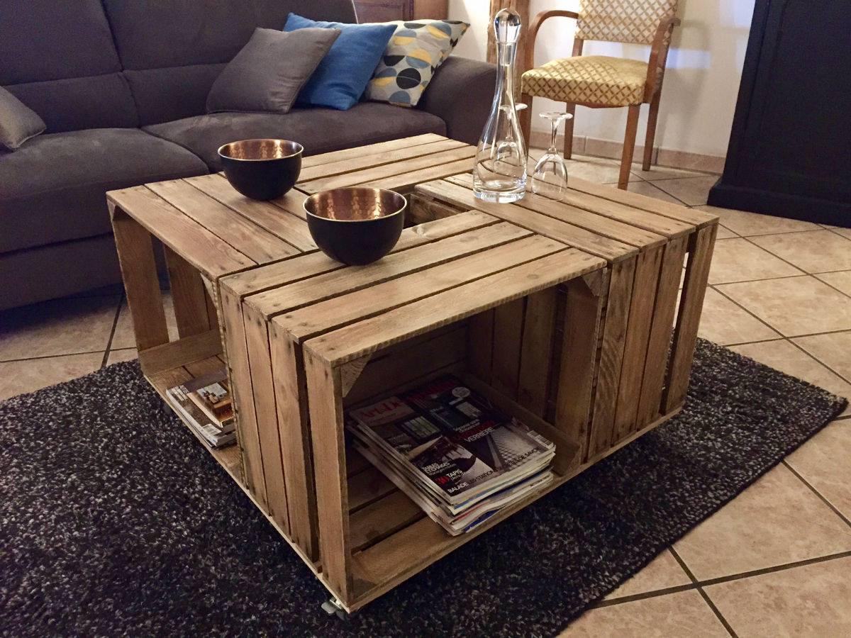 Des Tables Basses Base De Caisses Pommes Blog