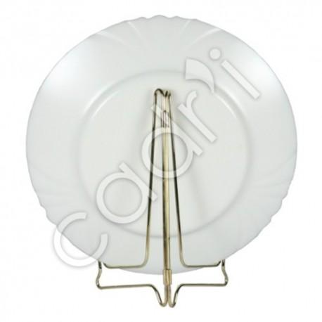 support assiette fer laitonne chevalet pliant