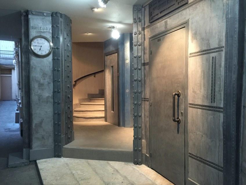 Hall-immeuble après-travaux style industriel