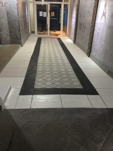 rénovation de sol de hall d'immeuble