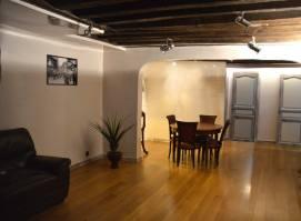 le loft style industriel avec poutres napoléoniennes