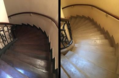 rénovation de cage d'escaliers d'immeuble ancien