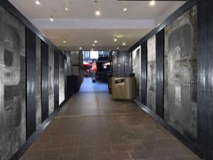mur métal style industriel