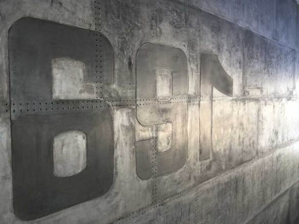 murs métallique style eiffel